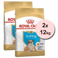 ROYAL CANIN Bulldog Puppy granule pre šteňa buldoga 2 x 12 kg