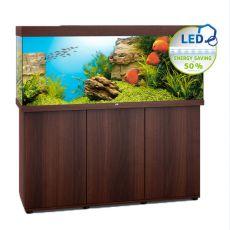 Set JUWEL akvárium RIO LED 450 tmavo hnedý + skrinka