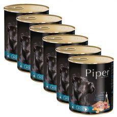 Konzerva Piper Adult s jahňacinou, mrkvou a hnedou ryžou 6 x 800 g